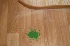 Терпение и труд все перетрут, или как отмыть зеленку с линолеума в домашних условиях