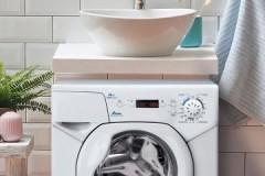 Удачное решение для маленьких помещений: стиральная машина Канди под раковину