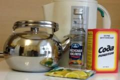 Как эффективно и безопасно убрать накипь в чайнике уксусом и содой?