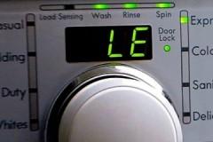 Что делать, если стиральная машина LG выдает ошибку LE?