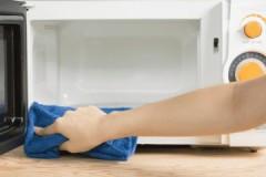 Способы и средства, как быстро и легко очистить микроволновку внутри от жира в домашних условиях
