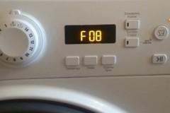Почему стиральная машина Индезит выдает ошибку F08 и что с этим делать?