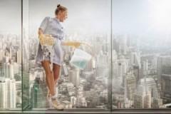 Как быстро и эффективно помыть панорамные окна внутри и снаружи?