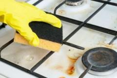 Полезные лайфхаки, как очистить решетку газовой плиты от нагара в домашних условиях