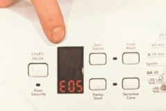 Почему возникает ошибка Е05 стиральной машины Канди, как ее устранить?