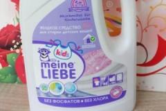 Обзор гелей Meine Liebe для стирки детского белья, их разновидности, стоимость, мнения потребителей