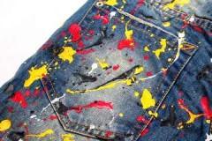 Самые эффективные способы, как и чем оттереть масляную краску с джинсов