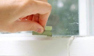 Чем снять краску со стекла